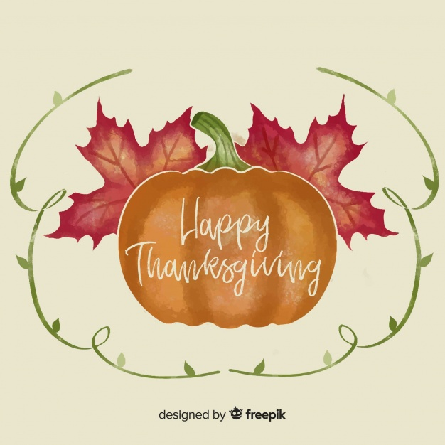 626x626 Watercolor Thanksgiving Day Background Vector Free Download
