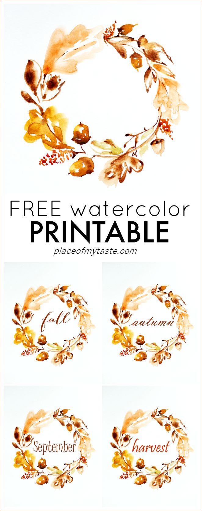 662x1671 Free Watercolor Thanksgiving Printable