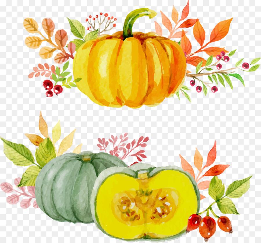 900x840 Paper Thanksgiving Watercolor Painting Autumn Pumpkin