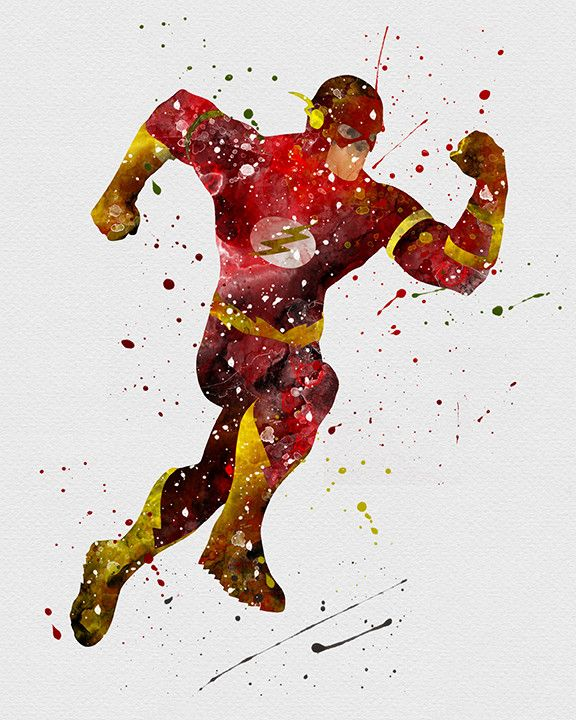 The Flash Watercolor
