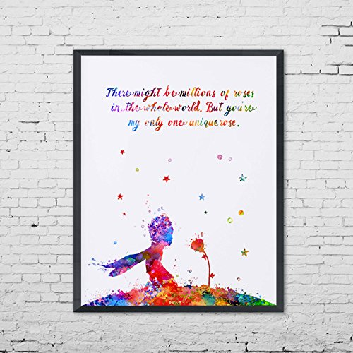 500x500 The Little Prince Rose Quotes Poster Rose Wall Art Art