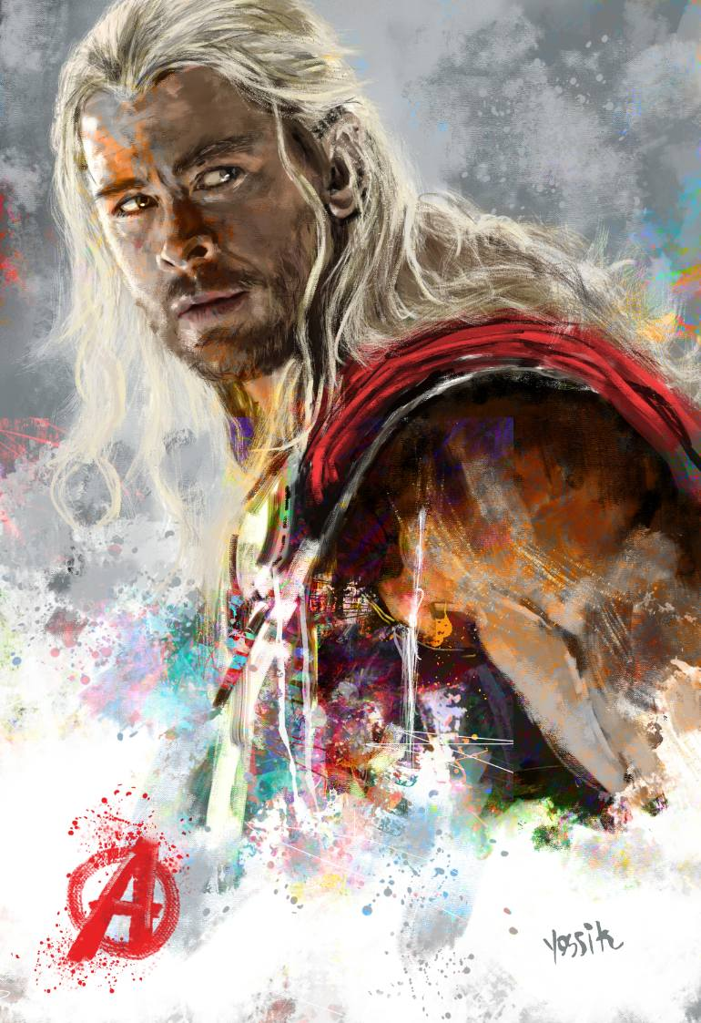 770x1123 Thor Painting By Yossi Kotler Saatchi Art