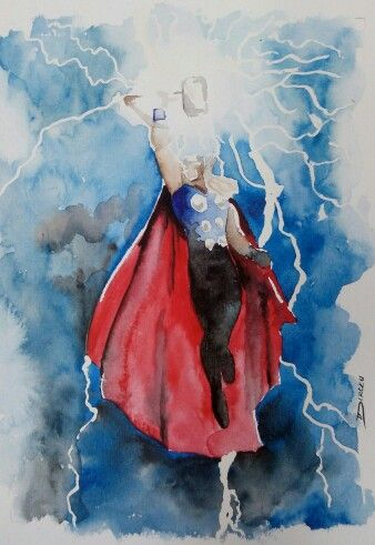 338x491 Thor Watercolor Body