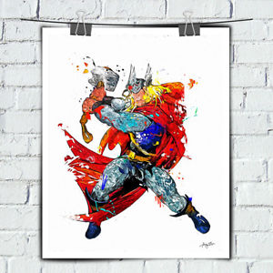 300x300 Avengers Watercolor Painting Art Modern Decor Wall Thor Hd Print