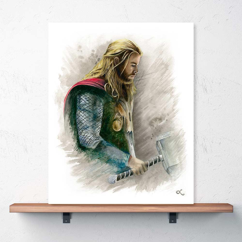1000x1000 The Mighty Thor Print Chris Hemsworth As Thor Watercolor