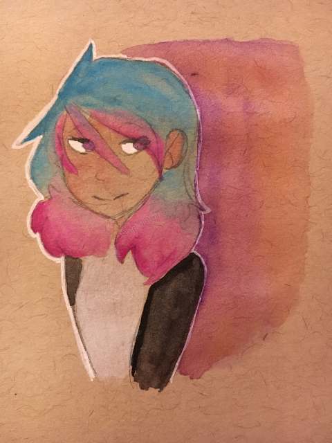 480x640 Having Fun With Watercolor And Toned Paper I Love This