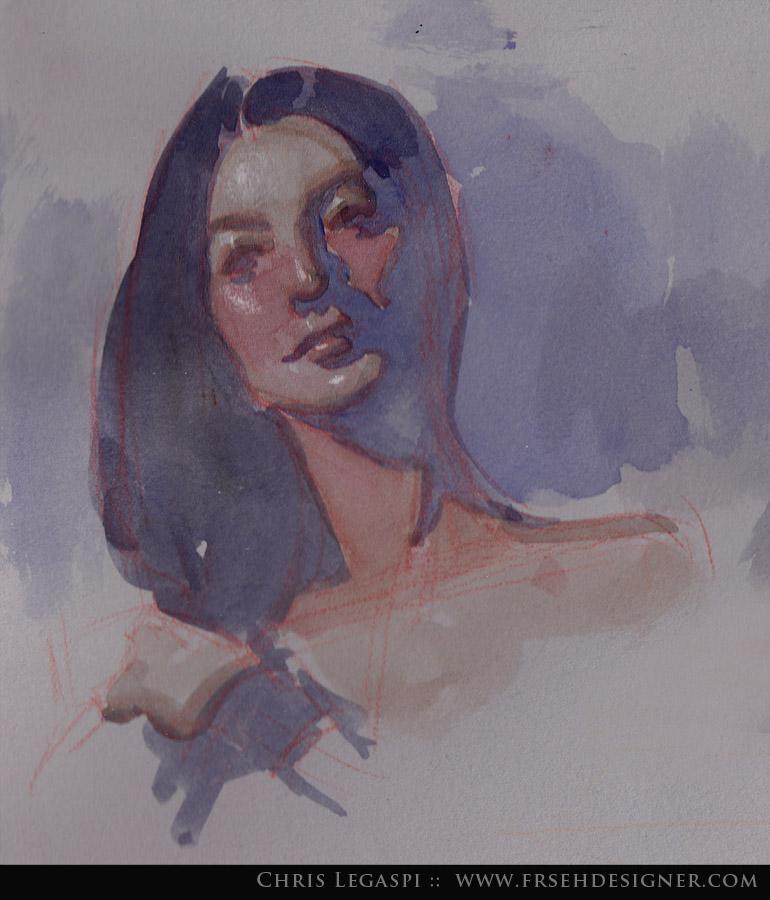770x900 Head In Watercolor By Freshdesigner