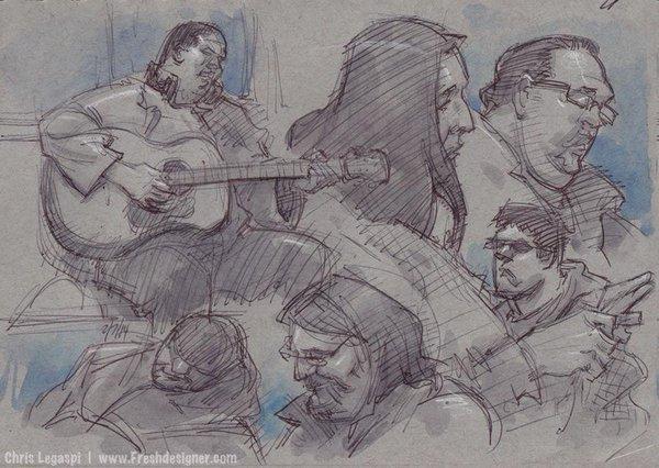 600x426 Chris Legaspi On Twitter Sketching People On La Metro Train