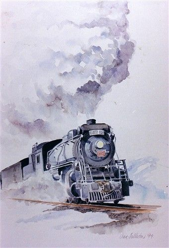 Train Watercolor