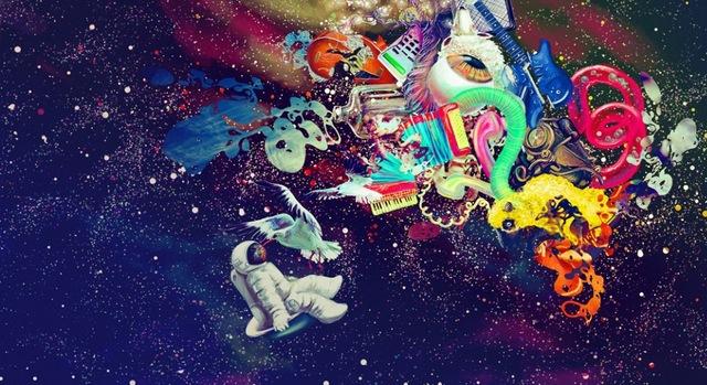 640x349 Psychedelic Trippy Art Watercolor Inkjet Watercolor Inkjet Fabric