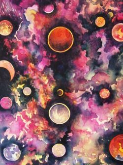 250x336 Trippy Hippie Moon Psychedelic Watercolor Paint Psychedelic Art