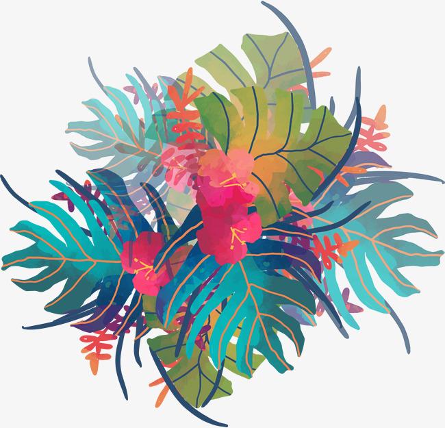 650x625 Watercolor Tropical Plants, Vector Png, Tropical Plants, Plant Png