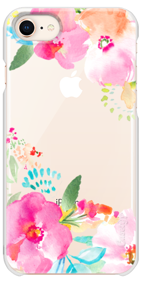 282x560 Pink Sea Tropical Watercolor Flowers Casetify