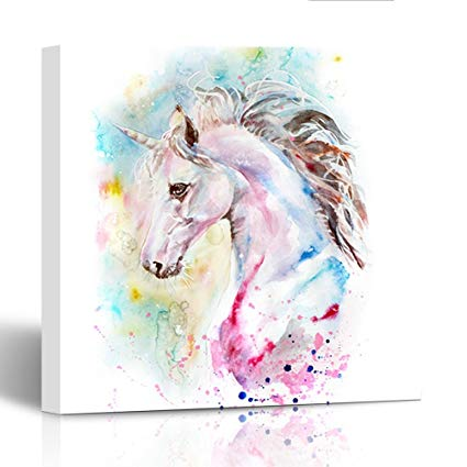 Unicorn Watercolor Painting