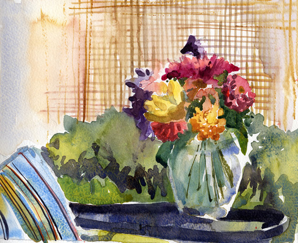 611x499 Flowers In A Glass Vase Archival Limited Edition Art Print