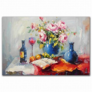 350x350 New Design Peony Flower Vase And Glass Wine Bottle Watercolor
