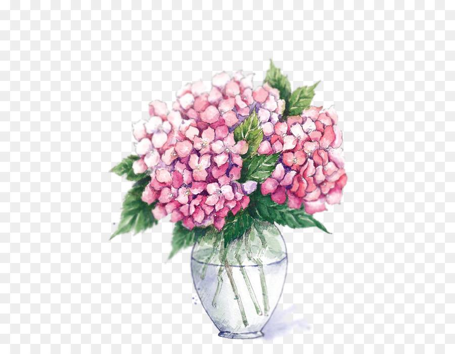 900x700 Vase Flower Watercolor Painting