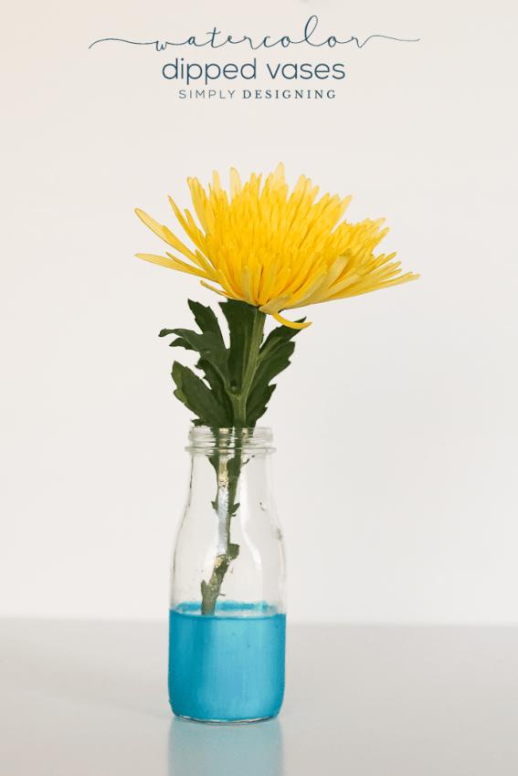 567x850 Watercolor Dipped Vase