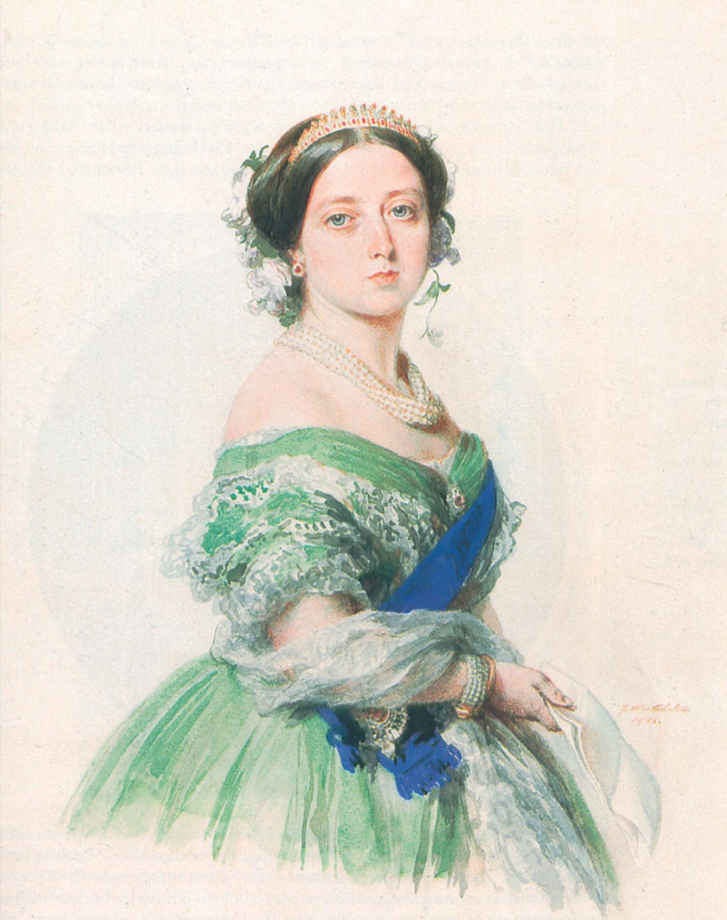 1440x1823 1855 Queen Victoria Watercolor By Franz Xaver Winterhalter (Royal