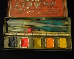 Vintage Watercolor Tin