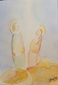 Virgin Mary Watercolor