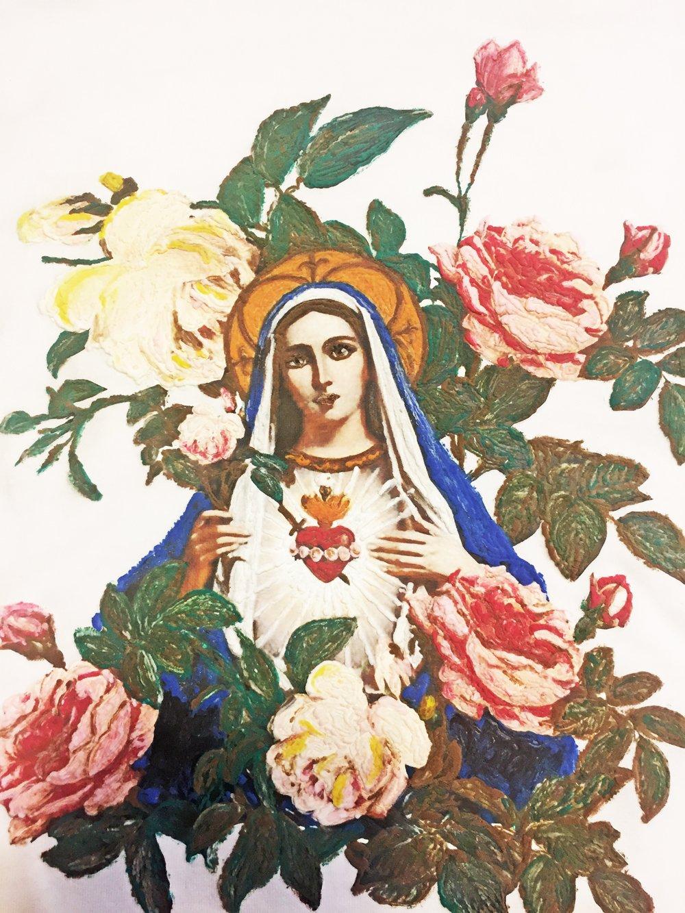 1000x1333 Virgin Mary T Shirt Sacred Heart Tshirt Religious Catholic Shirt