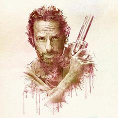Walking Dead Watercolor