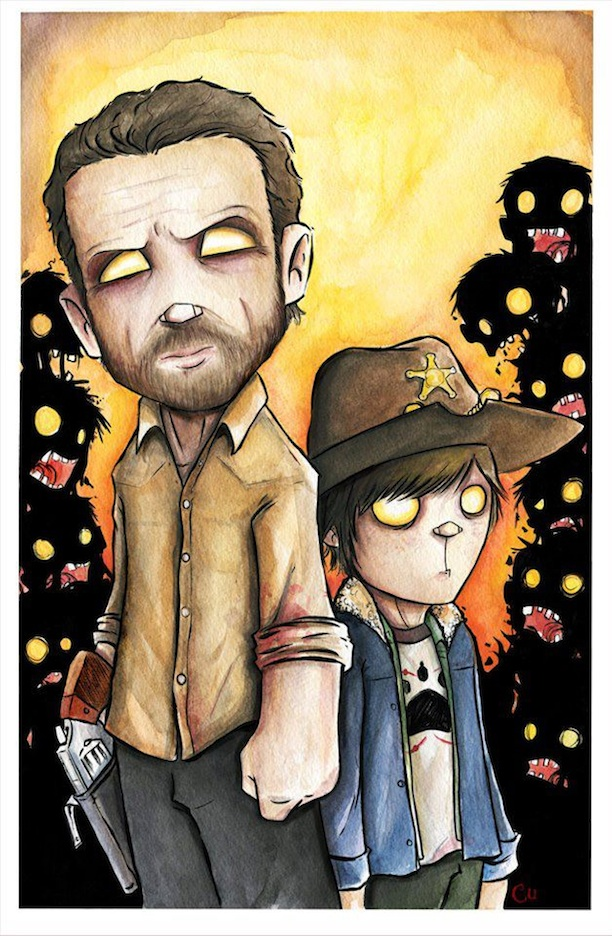 The Best Free Walking Dead Watercolor Images Download From 145