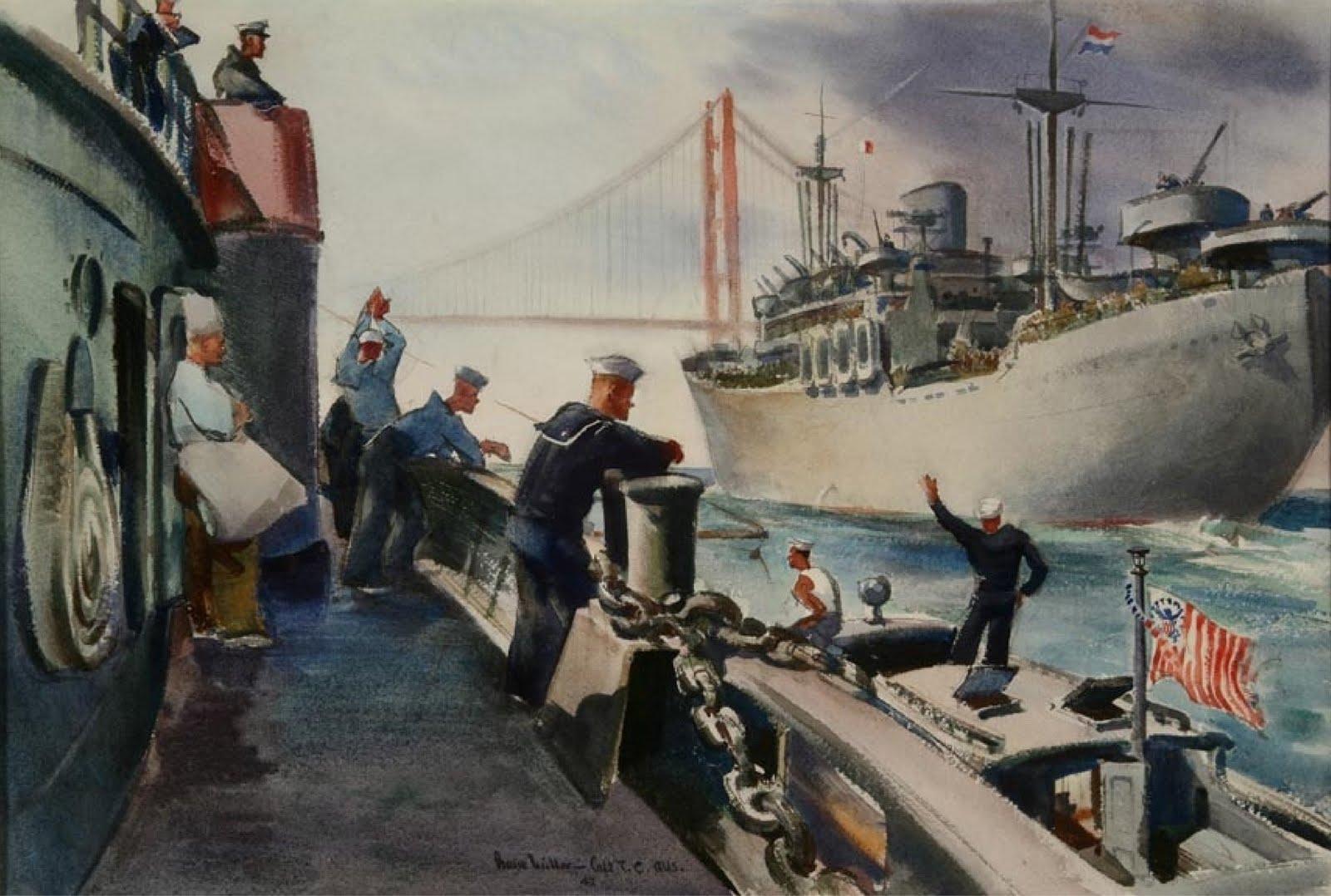 1600x1078 Oceanside Museum Of Art Blog Historic World War Ii Watercolor