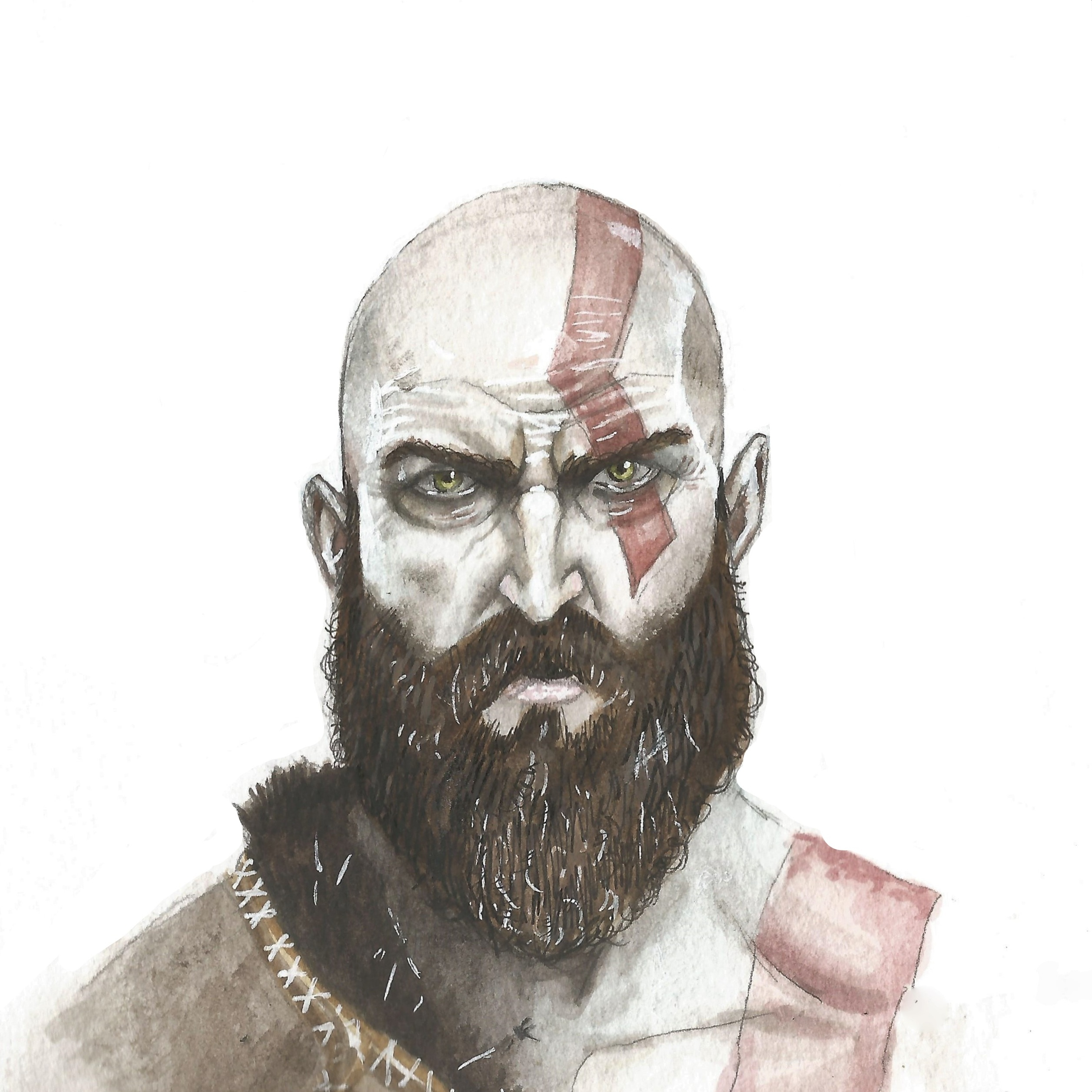 The Best Free Kratos Watercolor Images Download From 2 Free