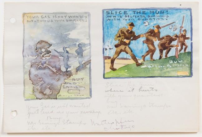 648x440 World War Watercolor Sketches Walter Ufer