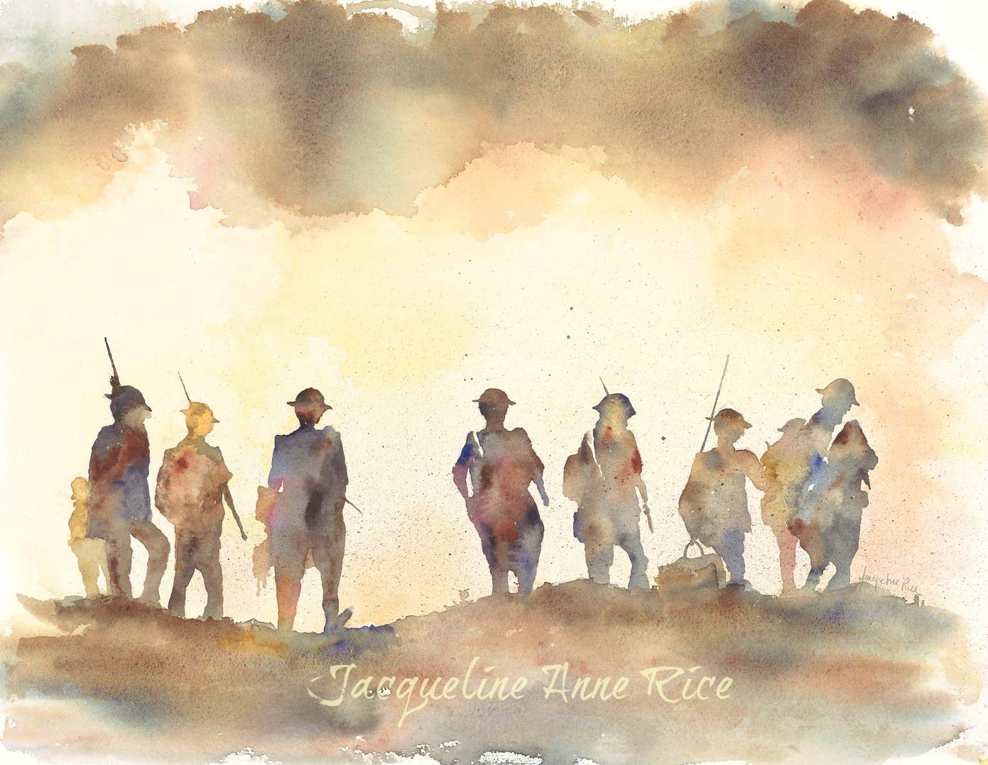1391x1078 Military Art War Art By Jacqueline Anne Rice