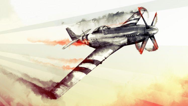 748x421 Watercolor, World War Ii, Aircraft, War Thunder, North American P