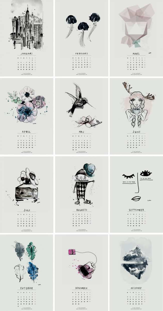 650x1242 20 Free Printable Calendars To Ring In The New Year