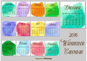 286x200 Watercolor Calendar Free Vector Art