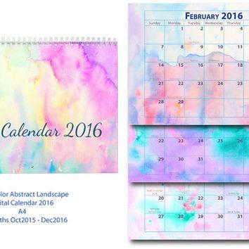 354x354 2016 Calendar Printable