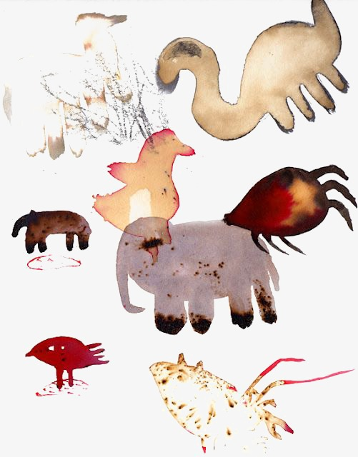 501x640 Watercolor Abstract Animals, Watercolor Clipart, Animal, Blooming