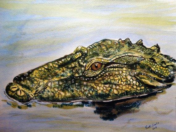 Watercolor Alligator