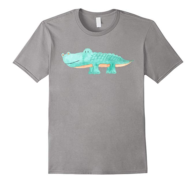 679x635 Cute Watercolor Alligator Unique Animal Art T Shirt