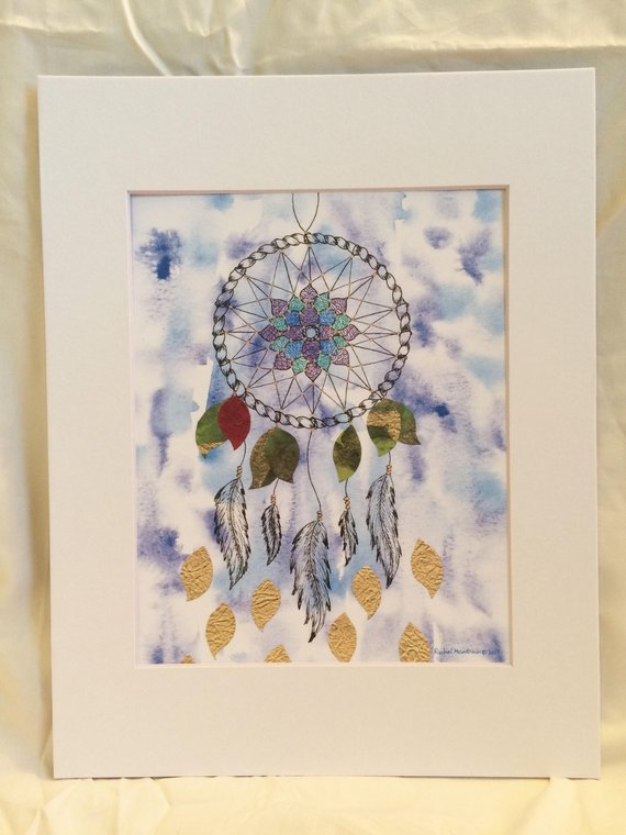 570x760 Floating Dream Catcher Mandala Bohemian Watercolor And Marker