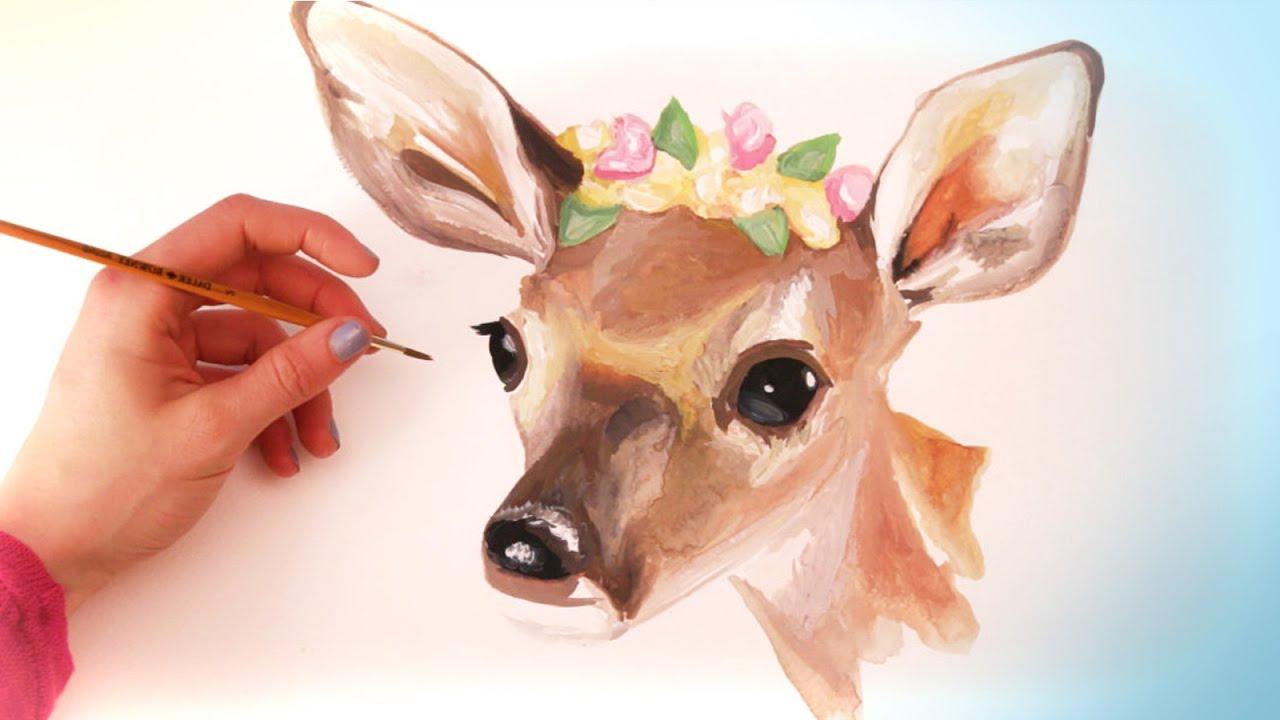 1280x720 Watercolor Paintings Of Animals Watercolor Animal Paintings