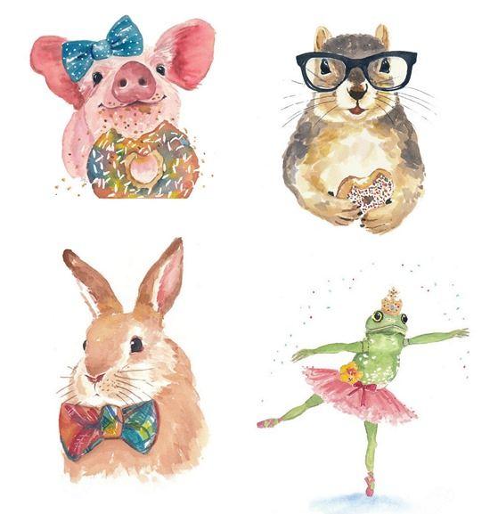 559x577 Centsational Girl Blog Archive Watercolor Animal Prints