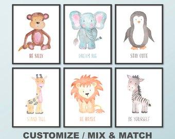 340x270 Animal Watercolor Etsy