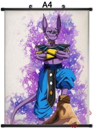 369x500 Dragon Ball Z Beerus Bills God Anime Poster Manga Watercolor Art