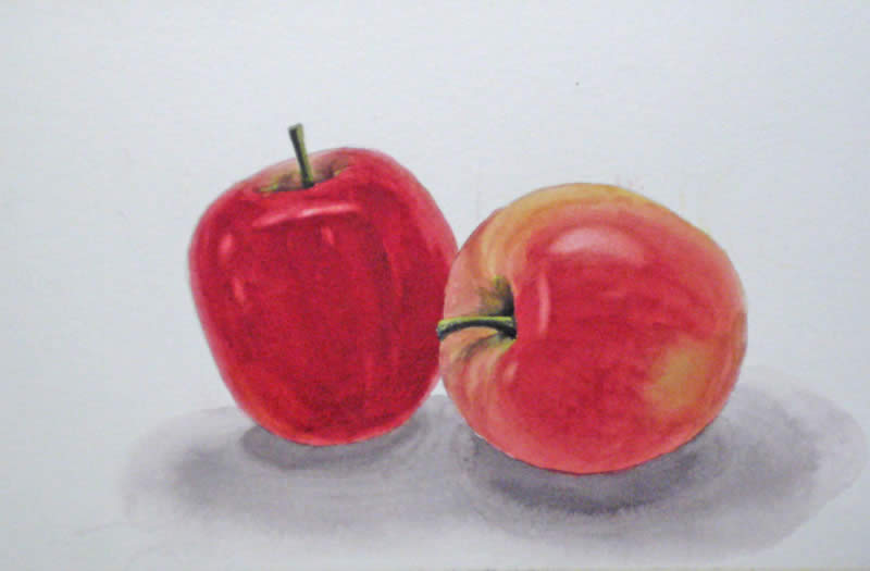 800x525 How To Paint An Apple With Watercolor