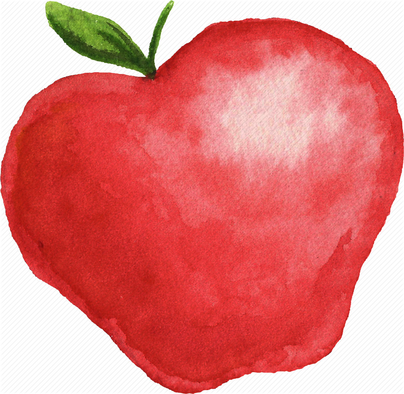 1564x1526 Apple, Cuisine, Food, Fruit, Fruits, Watercolor, Watercolors Icon