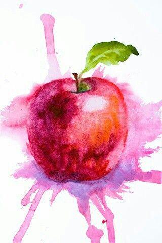 320x480 Watercolor Apple Watercolour