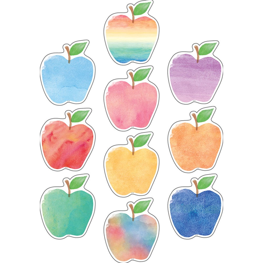 1000x1000 Watercolor Apples Accents