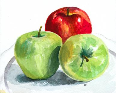 387x311 Watercolor Paintings Of Chris Cook