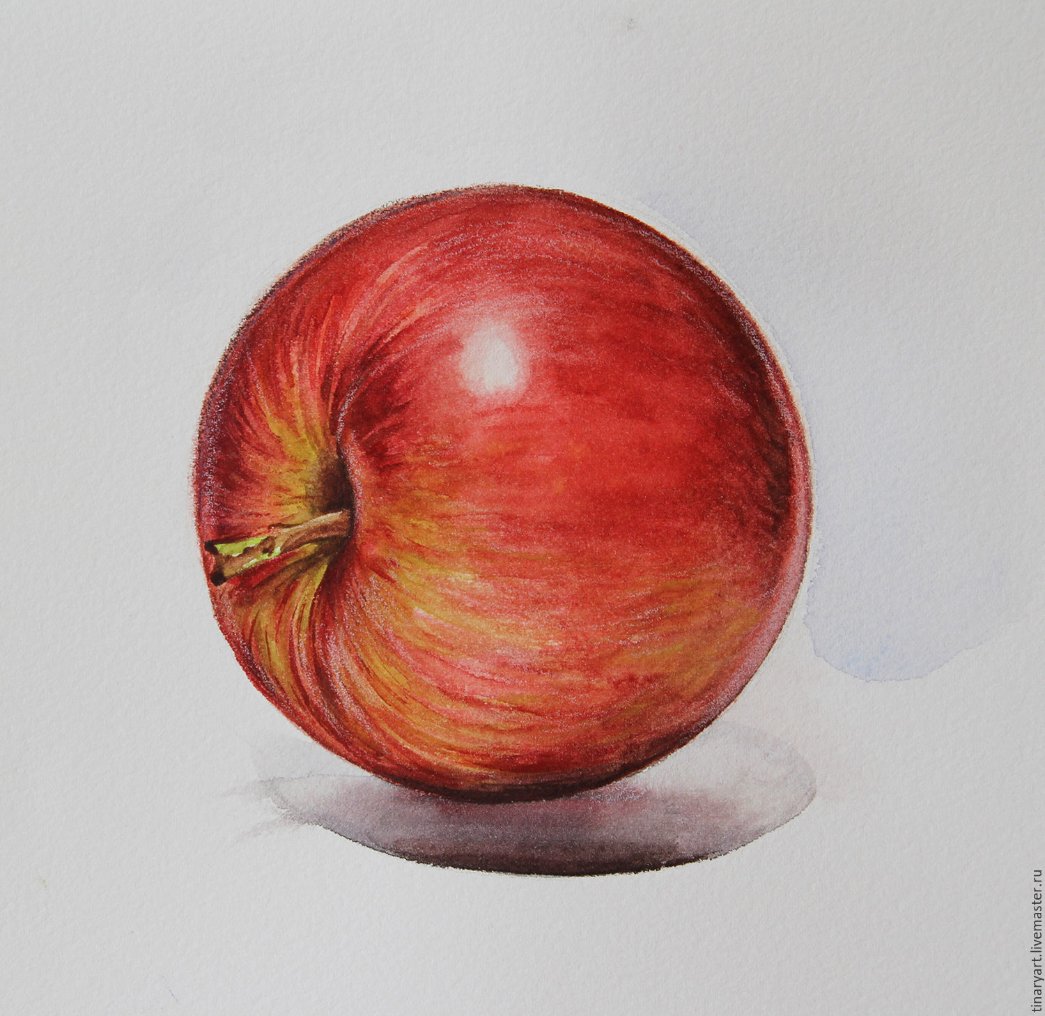 1500x1458 Watercolor Apple Shop Online On Livemaster With Shipping
